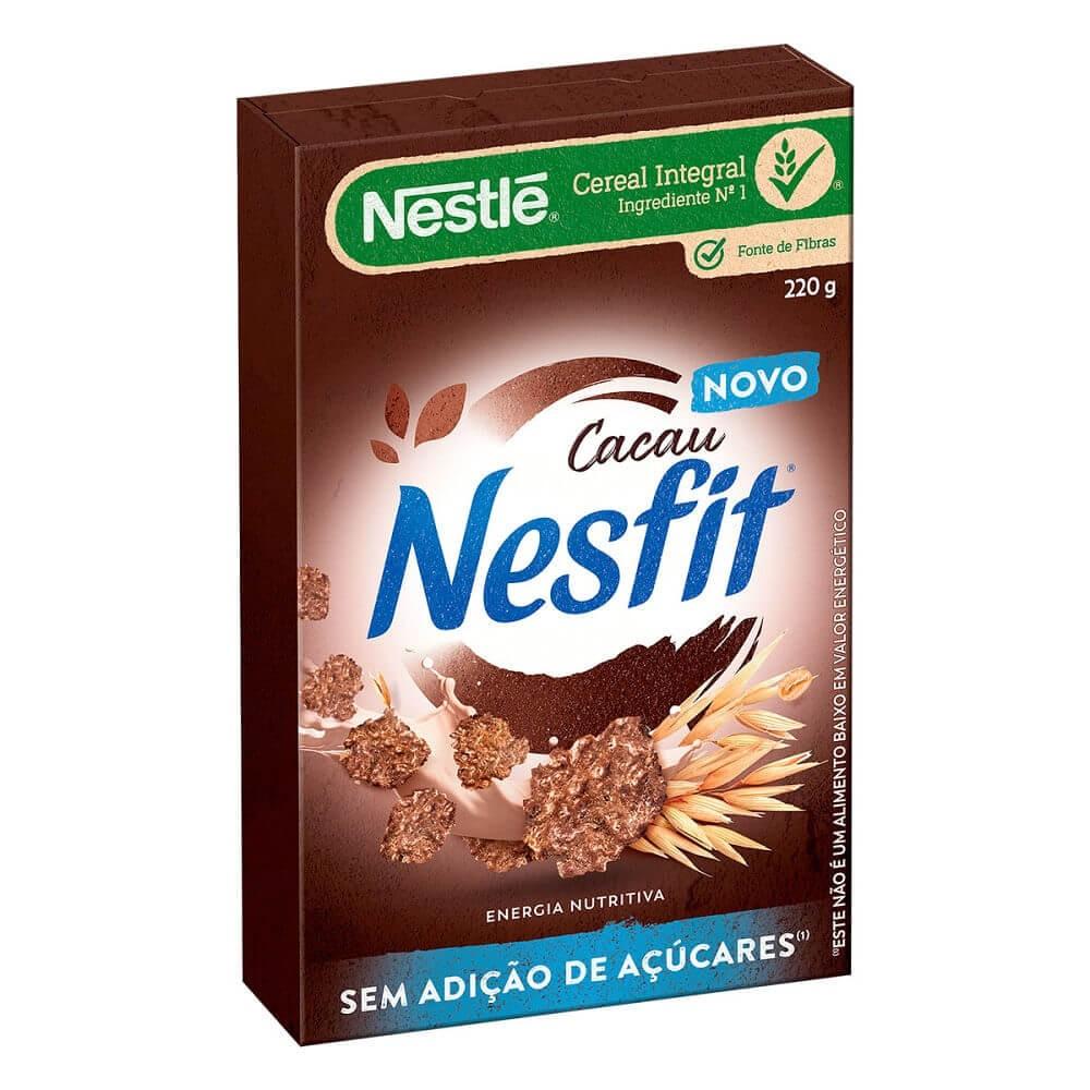 Cereal Integral Sem Adição de Açúcar Cacau Nesfit Nestlé 220g