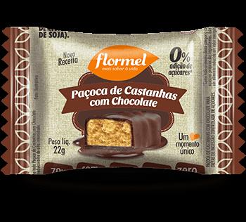 Paçoca de Castanhas com Chocolate  Zero Adição de Açúcar Flormel 22g