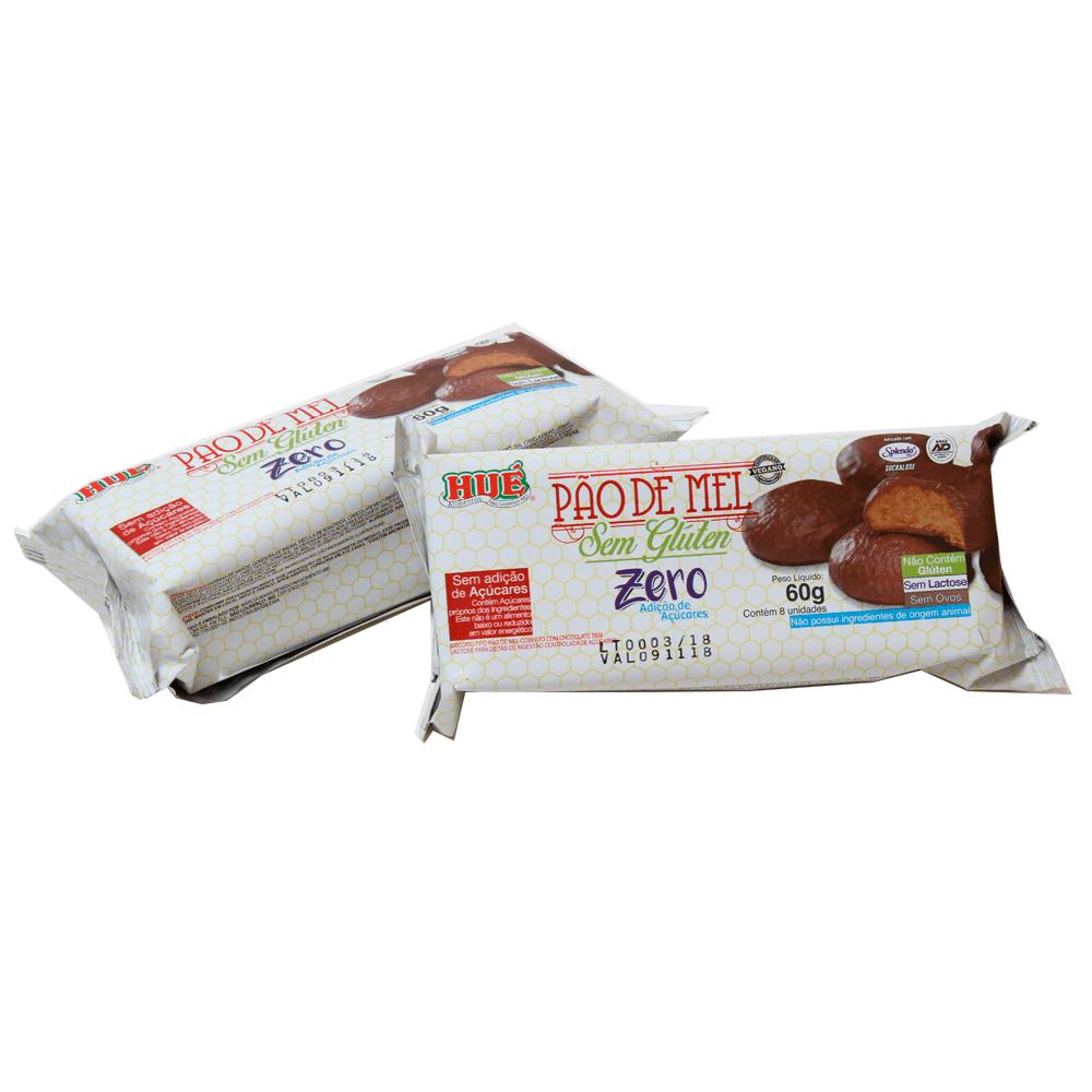 Pão de Mel Sem Adição de Açúcar Sem Glúten Hué 60g
