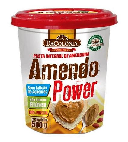 Pasta de Amendoim Integral Sem Adição de Açúcar DaColônia 500g