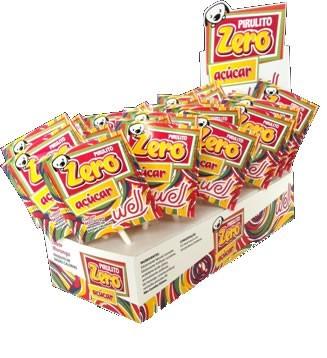 Pirulito Well Morango Zero Açúcar com 24 unidades