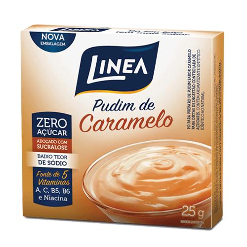 Pudim Zero Açúcar Caramelo Linea 25g