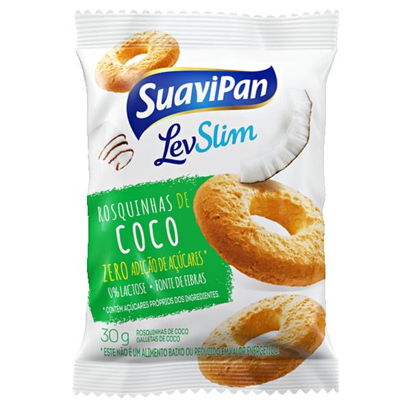 Rosquinhas de Coco Light Sem Adição de Açúcar Suavipan 30g - Validade 04/10/2019