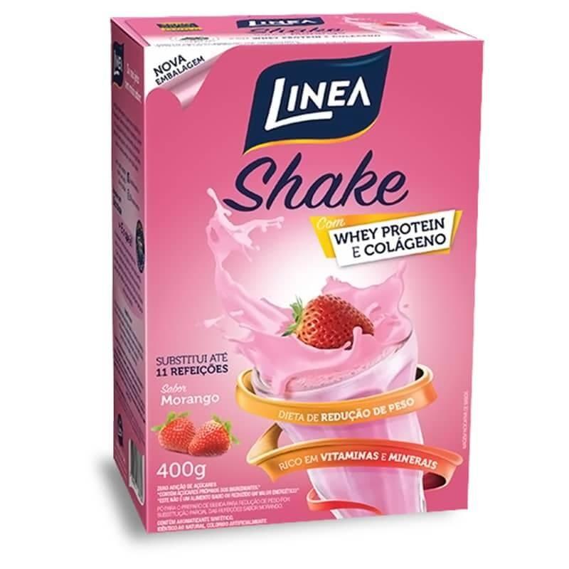 Shake Zero Adição de Açúcar Morango Linea 400g