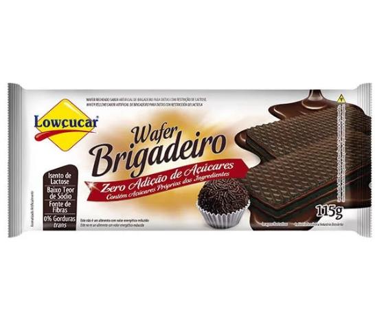 Wafer Brigadeiro Zero Adição de Açúcar Lowçucar 115g - Validade: 10/10/2019
