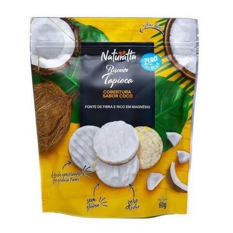Biscoito de Tapioca Zero Açúcar cobertura de Coco Naturatta 60g