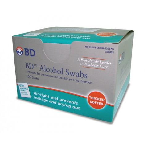 Álcool Swabs BD Almofadas para Assepsia