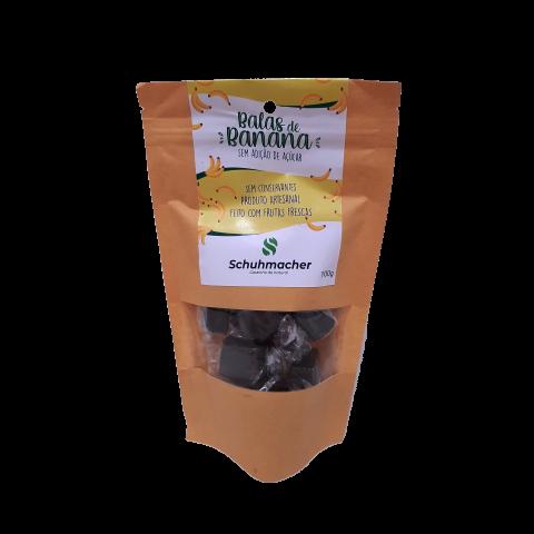 Bala de Banana Sem Adição de Açúcar Schuhmacher 100g
