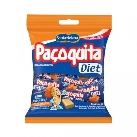 Bala Diet Mastigável Paçoquita Santa Helena 50g