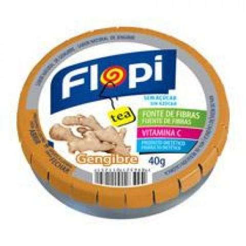 Bala Sem Açúcar Flopi Tea Gengibre Florestal 40g (24 balas)