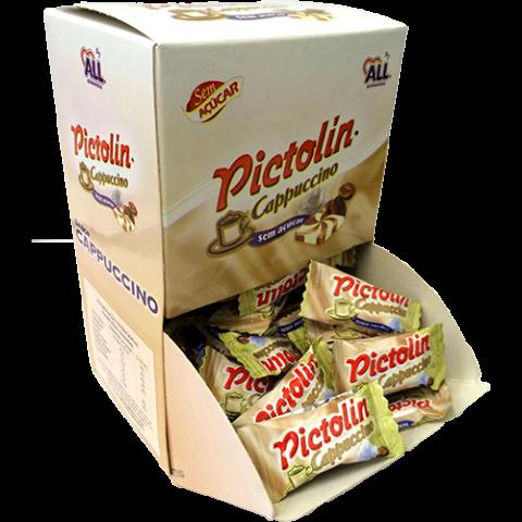 Bala Pictolin Cappuccino Sem Açúcar Display com 100 Unidades