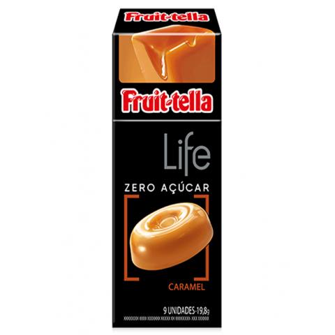 Bala Zero Açúcar Caramelo Fruit-Tella Life 18,9g