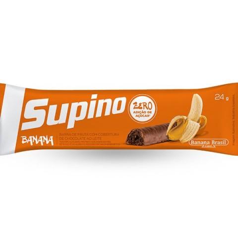 Barra de Banana com Chocolate ao Leite Zero Adição de Açúcar Supino Banana Brasil 24g
