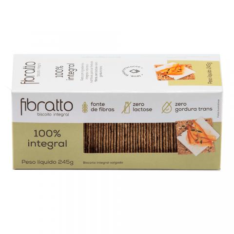 Biscoito 100% Integral Sem Açúcar Fibratto 245g