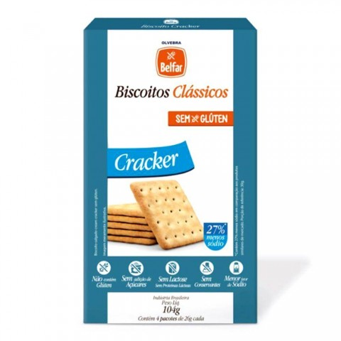 Biscoito Cracker Sem Adição de Açúcar Belfar 104g