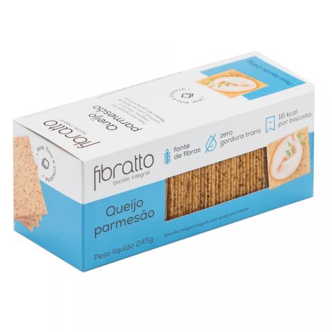 Biscoito Integral Sem Açúcar Queijo Parmesão Fibratto 245g