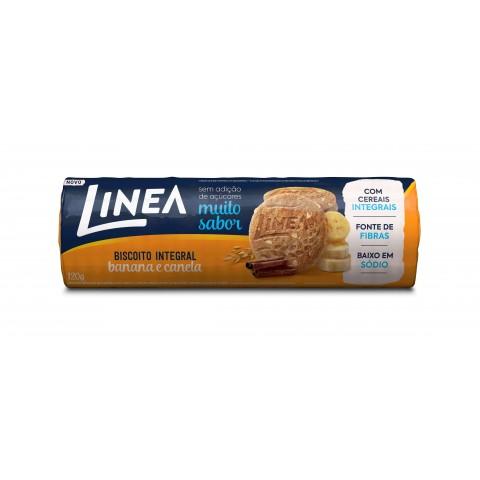 Biscoito Integral Sem Adição de Açúcar Banana e Canela Linea 120g