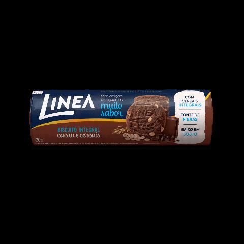 Biscoito Integral Sem Adição de Açúcar Cacau e Cereais Linea 120g