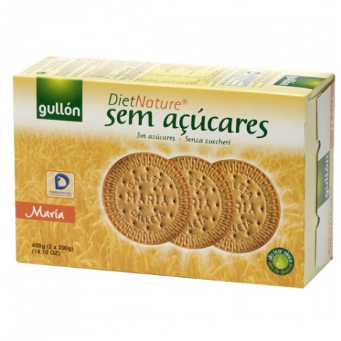 Biscoito Maria Espanhol Zero Açúcar Diet Nature Gullón 400g