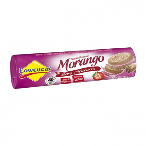 Biscoito Recheado Diet Sabor Morango Lowçucar 120g