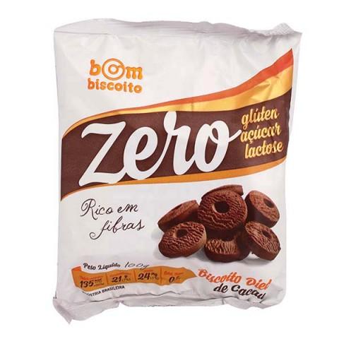Biscoito Zero Açúcar Sabor Chocolate  Bom Biscoito 100g