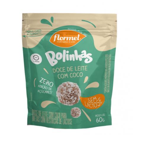 Bolinhas de Doce de Leite com Coco Zero Adição de Açúcar Flormel 60g