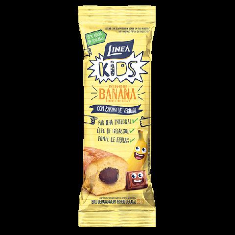 Bolinho Integral Sem Adição de Açúcar Banana Linea Kids 35g