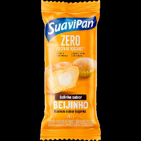 Bolinho Zero Adição de Açúcar Beijinho Recheado Beijinho Suavipan 40g