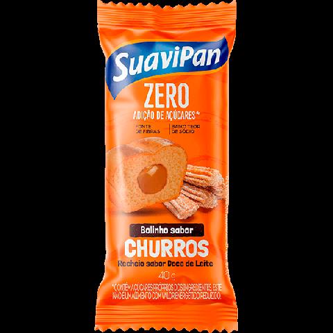 Bolinho Zero Adição de Açúcar Churros Recheado Doce de Leite Suavipan 40g