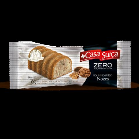Bolinho Zero Adição de Açúcar Nozes Casa Suíça 35g