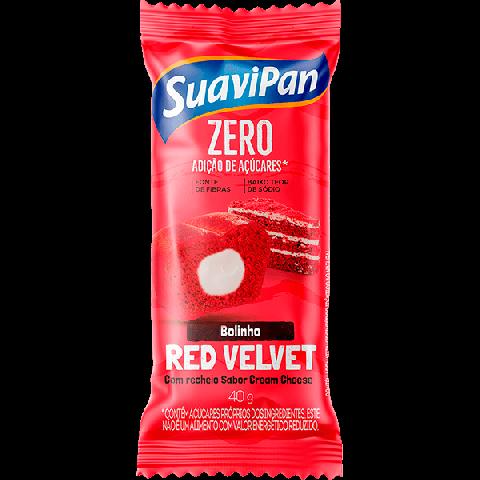 Bolinho Zero Adição de Açúcar Red Velvet Recheado Cream Cheese Suavipan 40g