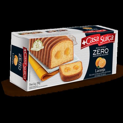 Bolo Zero Adição de Açúcar Laranja Recheado com Creme sabor Laranja Casa Suíça 280g