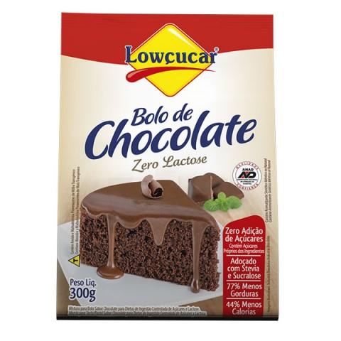 Mistura para bolo Zero adição de Açúcar sabor Chocolate Lowçucar 300g