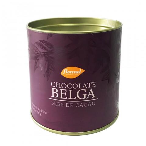 Bombom com Chocolate Belga ao Leite com Nibs de Cacau Zero Adição de Açúcar Flormel 150g