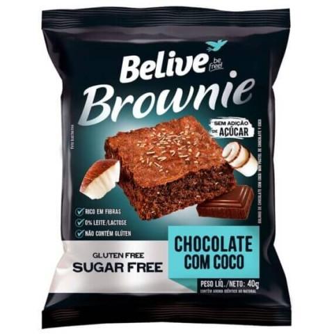 Brownie Sem Adição de Açúcar Chocolate com Coco Belive 40g