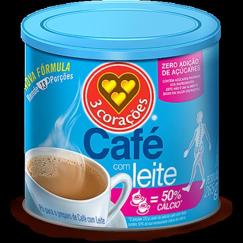 Café com Leite Zero Adição de Açúcar 3 Corações 265g