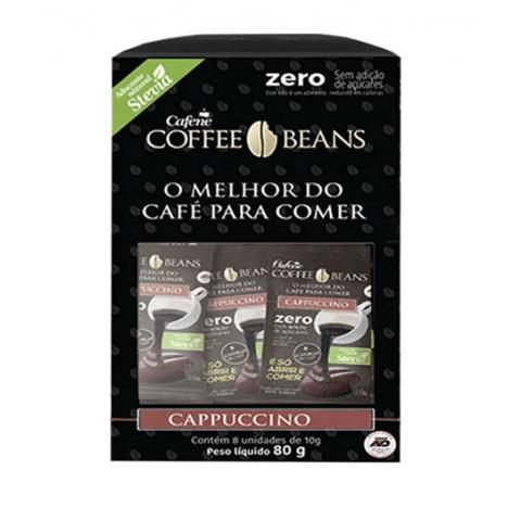 Café Cappuccino Sem Adição de Açúcar Cafene Coffee Beans 80g
