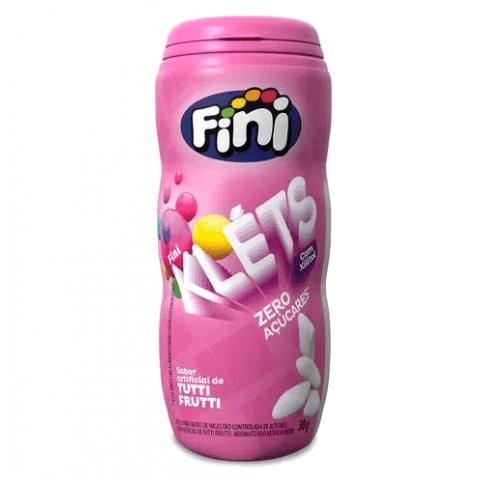 Chiclete Zero Açúcar Tutti-Frutti Fini Klets 30g