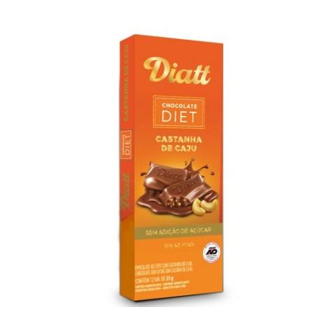 Chocolate ao Leite com Castanha de Caju Diet 25g Diatt