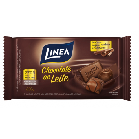 Chocolate ao Leite Zero Adição de Açúcar Linea Sucralose 250g