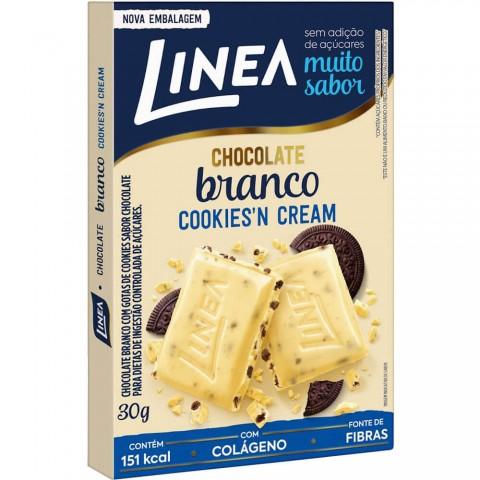 Chocolate Branco Cookies'n Cream Sem Adição de Açúcar Linea 30g