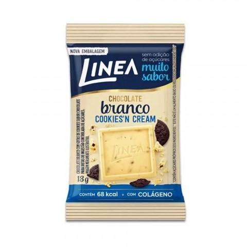 Chocolate Branco Cookies'n Cream Sem Adição de Açúcar Linea 13g