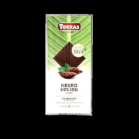 Chocolate Amargo 60% Cacau Sem Açúcar Torras 100g