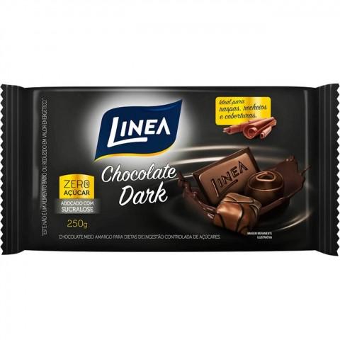 Chocolate Zero Açúcar Meio Amargo Dark Linea 250g