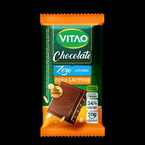 Chocolate ao Leite Zero Adição de Açúcar Zero Lactose com Cereais Vitao 30g