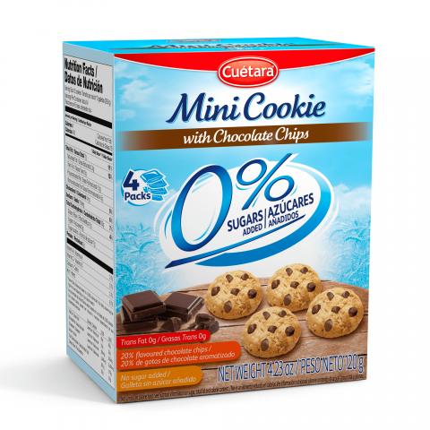 Cookies Zero Adição de Açúcar Gotas de Chocolate Cuétara 120g