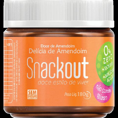 Doce de Amendoim Zero Adição de Açúcar Snackout 180g