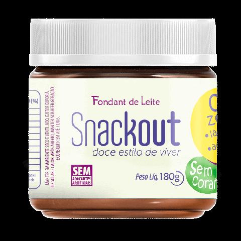 Doce de Fondant de Leite Zero Adição de Açúcar Snackout 180g
