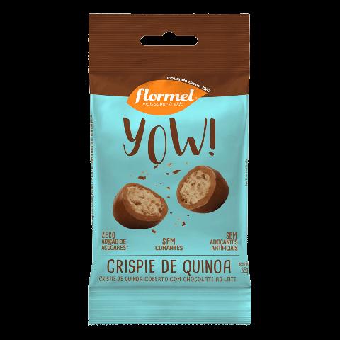 Drageado de Crispie de Quinoa Zero Adição de Açúcar Yow Flormel 35g