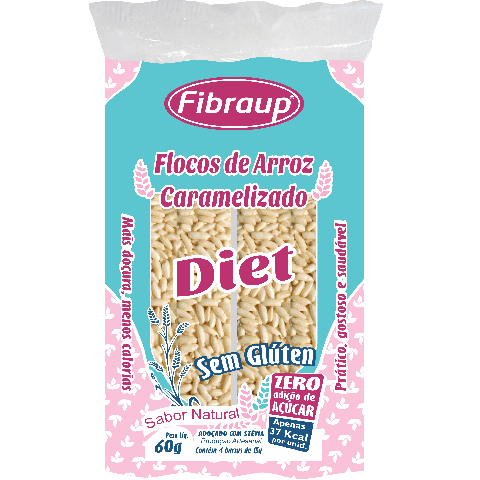 Flocos de Arroz Caramelizado Diet Natural Fibraup 60g